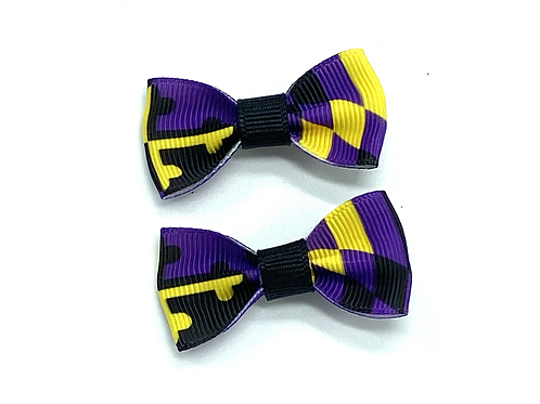 Small Ravens Maryland Flag Hair Bows