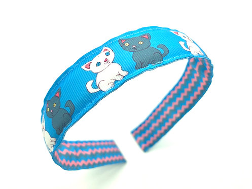 kitten kitty cat kawaii reversable headband