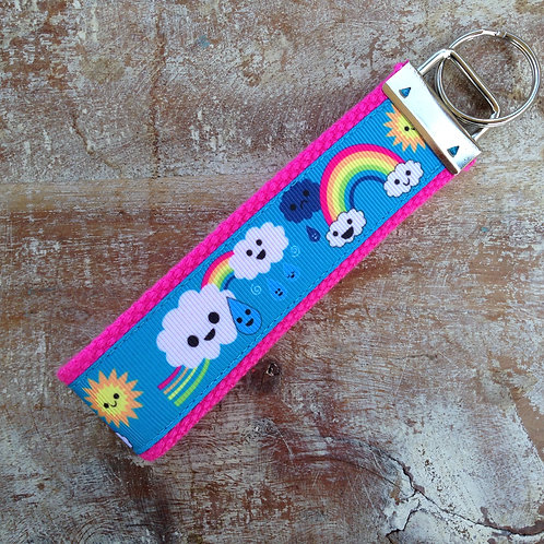 Rainbow Clouds Key Chain