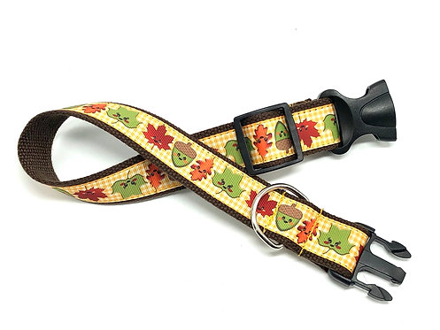 "1 1/4"" Fall Leaves Dog Collar or Leash"