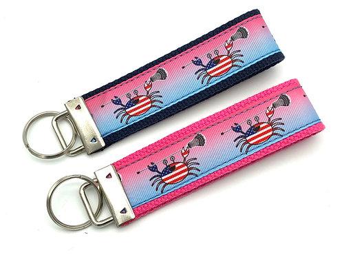 USA Crab Lacrosse Key Chain