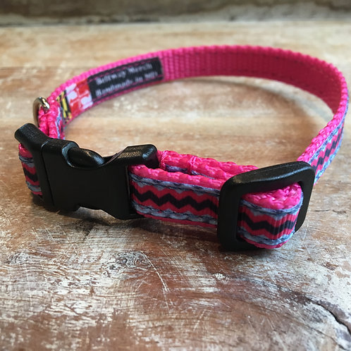 Pink Chevron Dog Collar