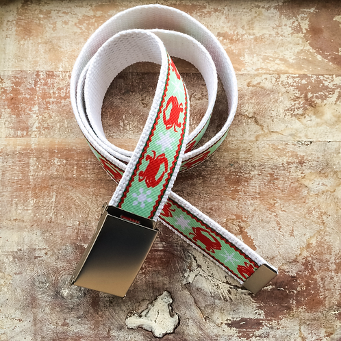 Crabs for Christmas Belt