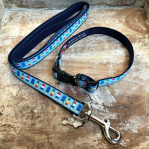 Kawaii Popsicles Dog Collar & Leash