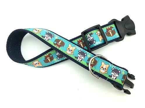 1 1/4 inch Puppies Dog Collar or Leash