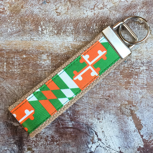Irish Maryland Flag Key Chain