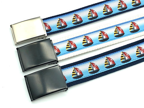 Maryland Flag Sailboat military style belt
