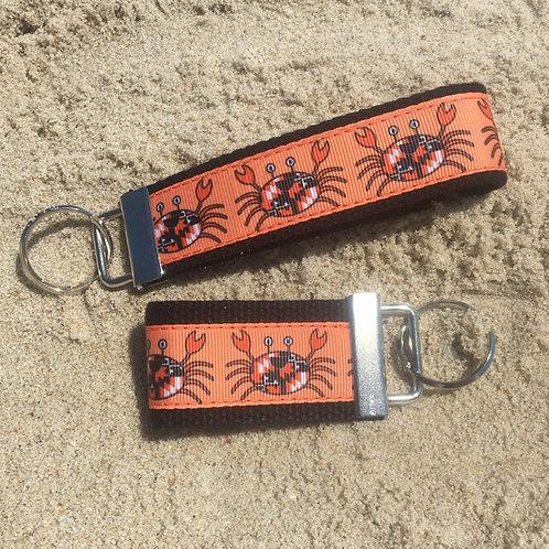 Happy Maryland Flag Orioles Crab Key Chain