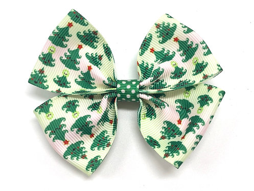 Happy Christmas Trees Dog Bow Tie