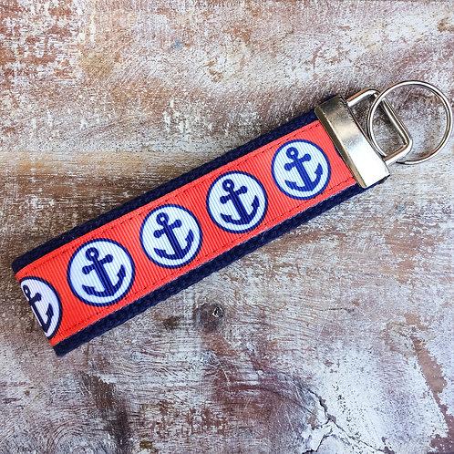 Navy Anchor Keychain key fob