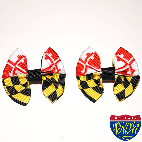 Traditional Maryland Flag Hair Bow