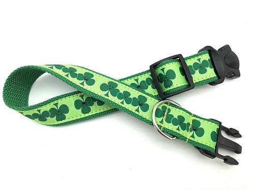 1 1/4 inch Happy Shamrock Dog Collar or Leash