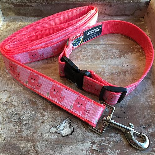 1 1/4 inch Little Piggy Dog Collar or Leash