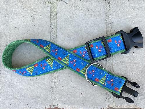 "1 1/4"" Mid Century Modern Christmas Tree Dog Collar or Leash"
