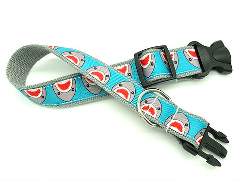 Kawaii Shark dog collar