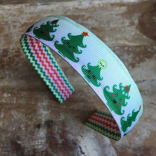 Kawaii Christmas tree headband
