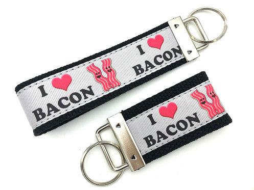 I Love Bacon Key Chain