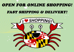 shopping banner happy crab on green