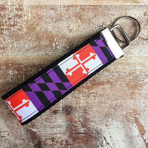 Birds of Baltimore Maryland Flag Key Chain