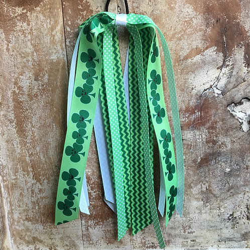 Happy Shamrocks Ponytail Ribbon