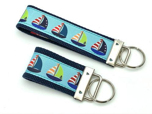 Colorful sailiboat key chain