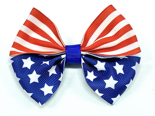 American Flag Dog Bow Tie