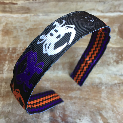 Halloween crab ghost reversible headband