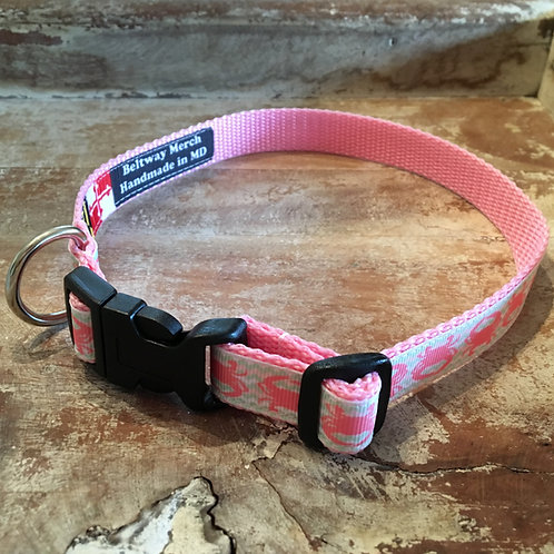 Pink Crab Dog Collar