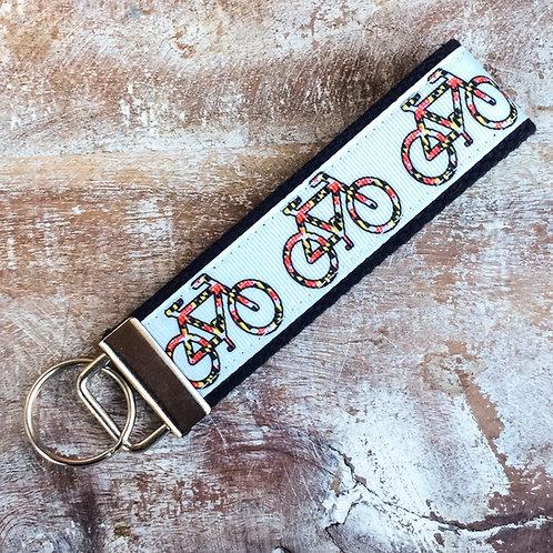 Maryland Flag Bikes Key Chain