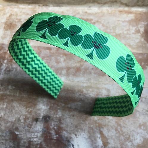 Shamrock clover St Patrick's Day headband