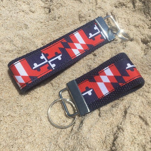 Capitals Maryland Flag Key Chain