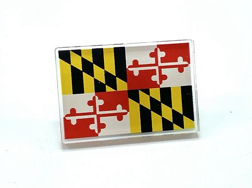 Traditional Maryland Flag Acrylic Pin