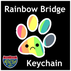 Rainbow bridge paw logo