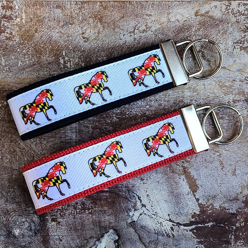 Maryland Flag Horse Key Chain