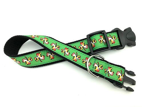 1 1/4 inch Maryland Flag Shamrock Dog Collar or Leash