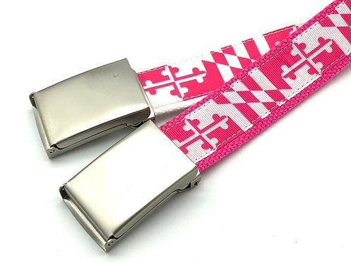 Hot Pink Maryland Flag Belt