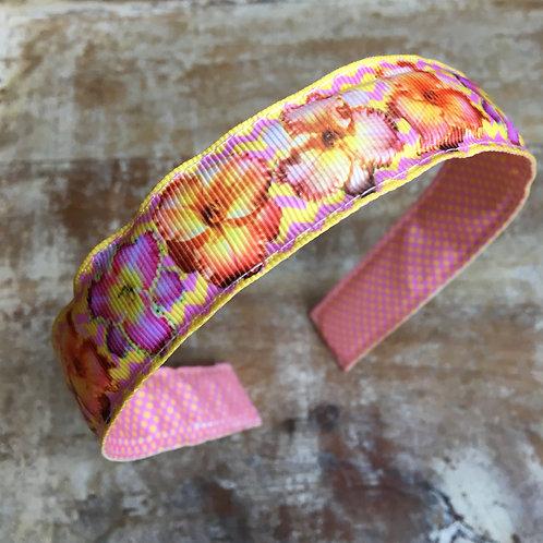pink daylily headband