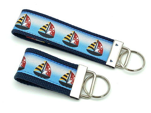 Maryland Flag Sailboat Key chain