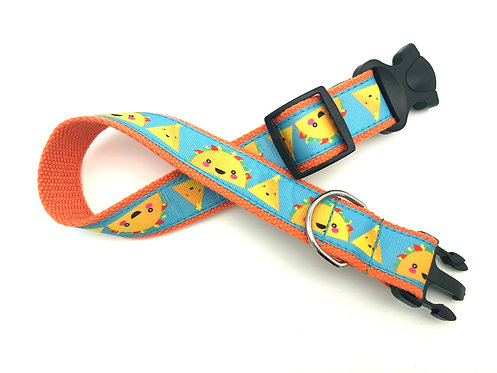 1 1/4 inch Taco Tuesday Dog Collar or Leash