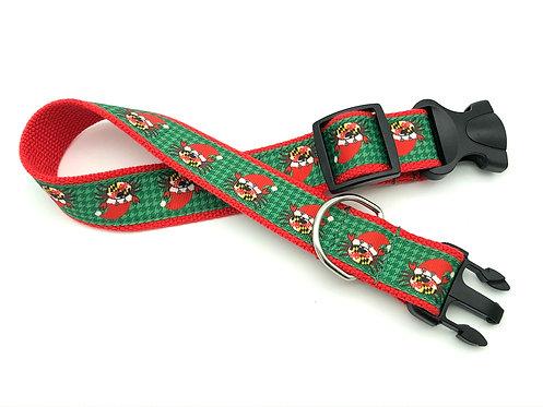 Happy Santa Maryland Crab dog collar and leash