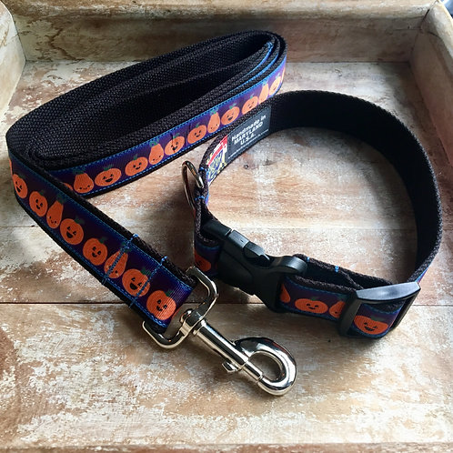 1 1/4 inch Halloween Pumpkins Dog Collar or Leash