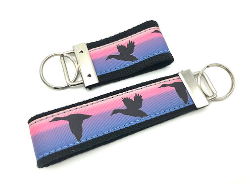 Pink Duck Sunset Key Chain