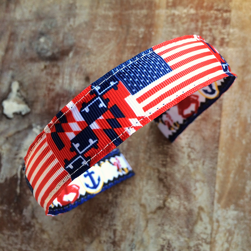 U.S.A. Maryland Flag Headband
