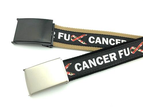 FU Cancer Maryland Flag Ribbon Belt
