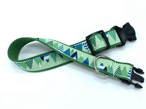 1 1/4 inch Christmas Tree Forest Dog Collar or Leash