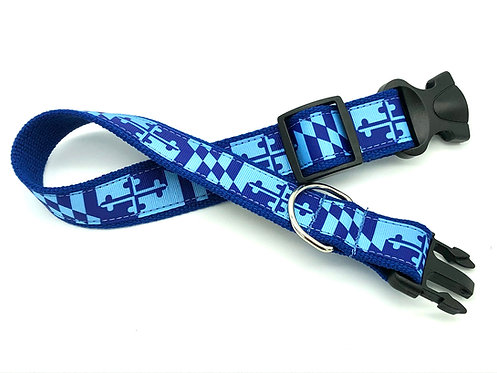 Johns Hopkins Maryland Flag Dog Collar & Leash