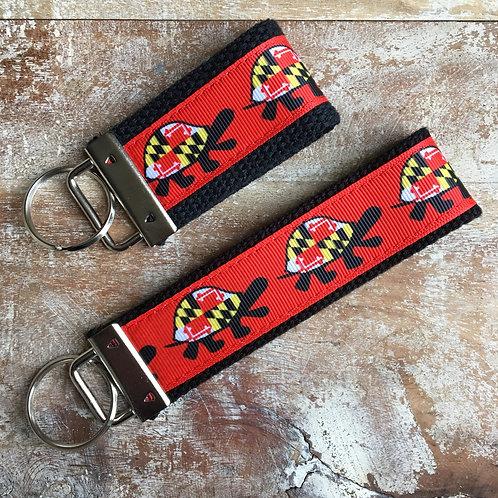 Maryland Flag Turtle Key Chain