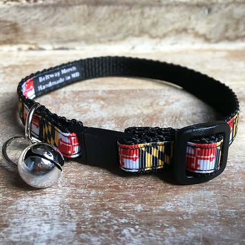 Traditional Maryland Flag Cat Collar