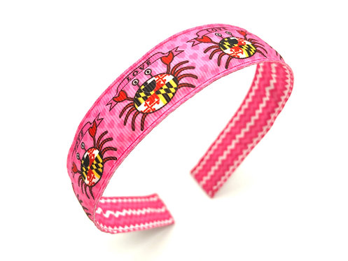 maryland flag crab valentine's day headband