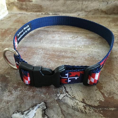 Capitals Maryland Flag Dog Collar